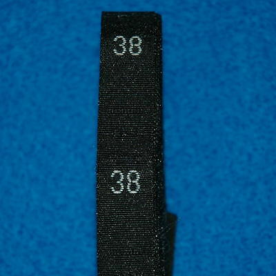 500 Pcs Woven Clothing Number Size Tags Label DIY Sewing Wholesale Black Size 38