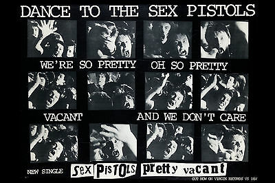 The Sex Pistols * Pretty Vacant  * Promotional  Poster 1977