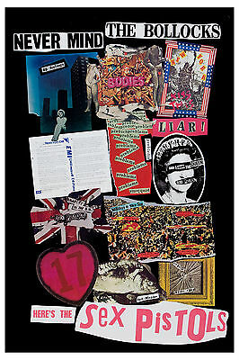 PUNK: The Sex Pistols * Never Mind the Bollocks *  Promotional Poster Circa 1977