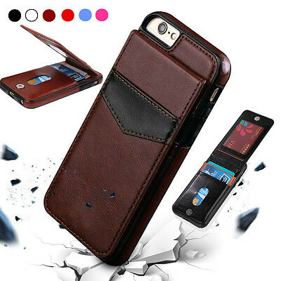 Leather Wallet Card Slot Holder Flip Stand Back Cover Case For iPhone 11 XS Max