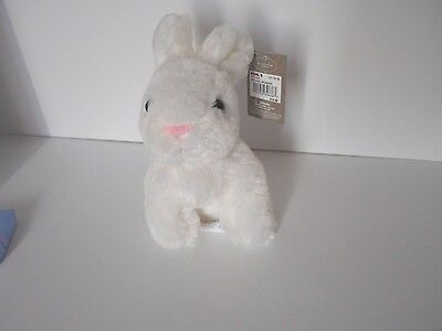 new with tags!  Large Plush white Rabbit Bunny ornament Easter Christmas Spring