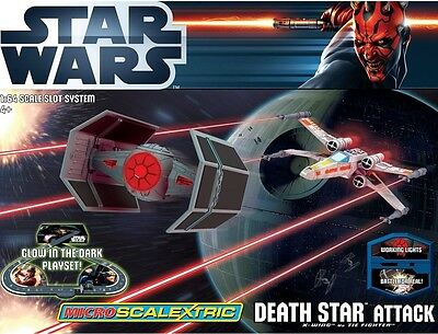 Micro Scalextric 1/64 scale Death Star Attack Star Wars Pursuit Set