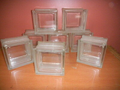 Vintage Glass Building Block 6 x 6 x 4 Clear