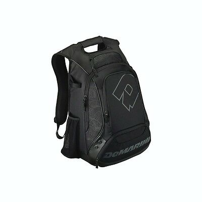 DeMarini NVS Bat Pack Backpack Equipment Bag WTD9402 Black