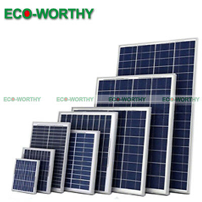 ECO Mono Poly Solar Panel 5W 10W 100W 160W Module for 12V 24V Home Power Charge