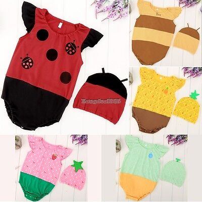 Baby Boys Girls Animal Costume Bodysuit Outfit Set Romper Clothes Jumpsuit ED