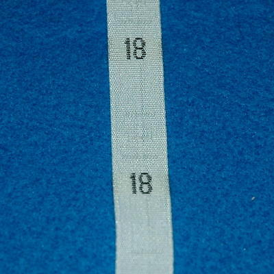 500 Pcs Woven Clothing Number Size Tags Label DIY Sewing Wholesale White Size 18