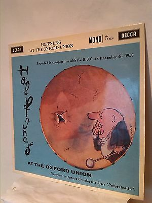 """HOFFNUNG AT THE OXFORD UNION   - DECCA Records-10"""" Vinyl"""