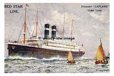 rp02681 - Red Star Liner - Lapland , built 1914 - photo 6x4