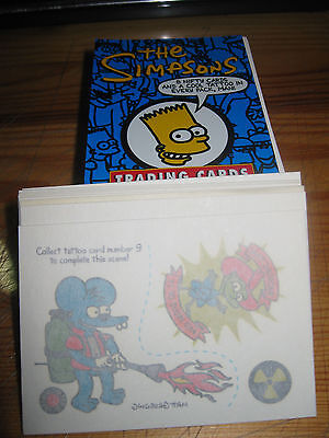 1993 The Simpsons: Series 1 Complete Set of 80 Cards & TATTOO Set (10) & Wrapper
