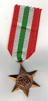 Original WW2 ITALY STAR  Medal  full size with ribbon