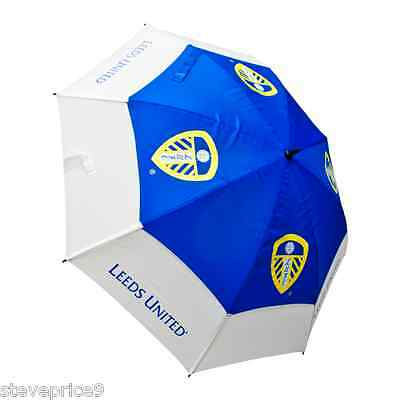 Brand New Leeds United Fc Double Canopy Golf Umbrella.