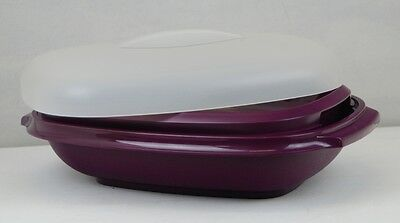 Tupperware Divided Steamer For Microwave.purple