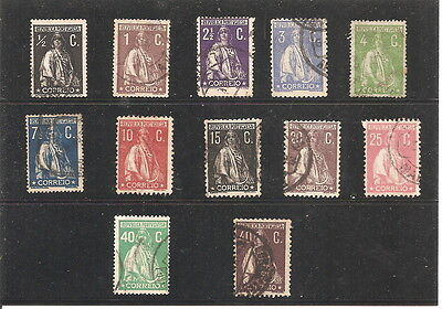 1912  PORTUGAL    12   fine  used stamps