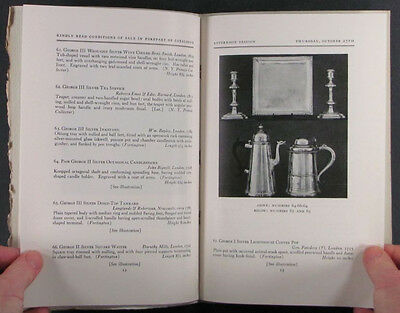 Antique English Silver in Fortington Collection -2 Catalogs at Parke-Bernet 1949