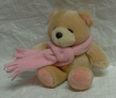 Forever Friends Bear wearing pink scarf