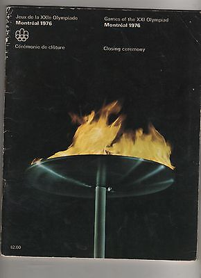Montreal 1976  Closing Ceremony Programme
