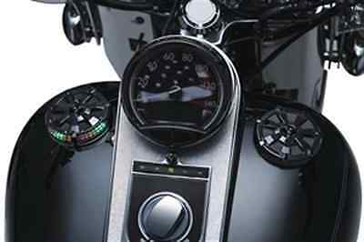 Kuryakyn Alley Cat LED Fuel and Battery Gauge - Gloss Black 7383
