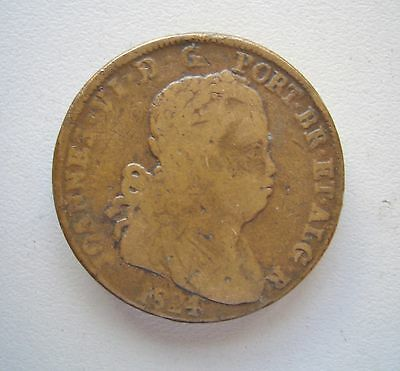 Portugal, 1824 40 Reis, {Pataco} Good Fine condition,35.2 mm Diameter