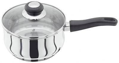 Judge Vista Cookware Stainless Steel 20cm 2.1Lt Sauce Pan Saucepan with Lid
