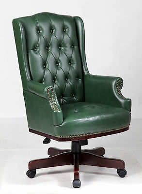 Chesterfield Style Executive Office Desk Leather Computer Chair Furniture