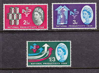 1962 Npy Phosphor Set Of 3 Sg631P/633P Mint