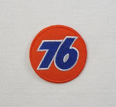 Union 76 Motor Oil SMALL Iron / sew on embroidered patch retro camper beetle 5cm