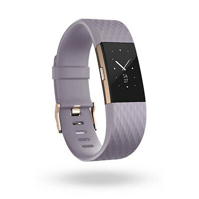 Fitbit Charge 2 Fitness Activity Tracker, Size Large, Lavender/Rose Gold Two Ton