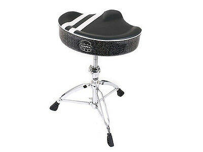 Mapex T756B Limited Edition Drum Throne, Black with White Stripe (NEW)