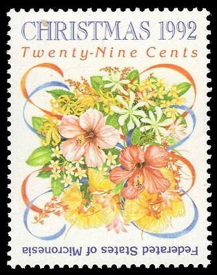 """MICRONESIA 154 - Christmas """"Floral Bouquet"""" Issue (pa59836)"""