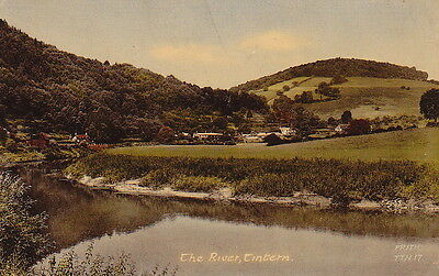 Tintern, The River, Monmouthshire, Wales - Vintage Postcard