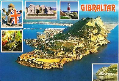 Gibraltar - Aerial View - Posted Postcard