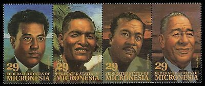 """MICRONESIA 177 - Local Leaders """"Strip of Four"""" (pa59838)"""