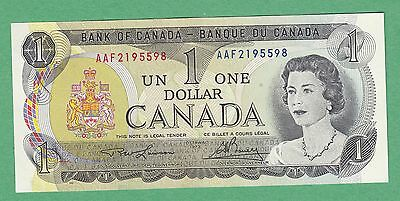 1973 Bank of Canada 1 Dollar Note - Lawson/Bouey - Steel - UNC