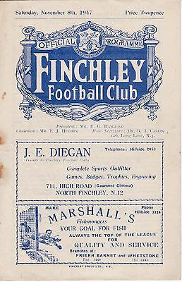 FINCHLEY  v  HITCHIN TOWN  1947/8.