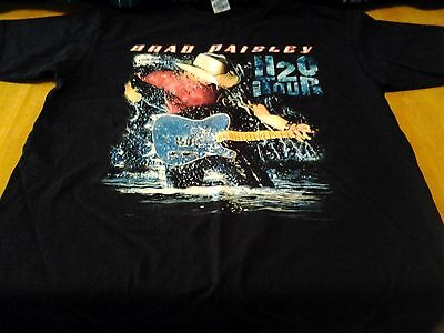 "Brad Paisley ""h2O World Tour"" Concert Tour Tee-Graphics On Front/back-Large"