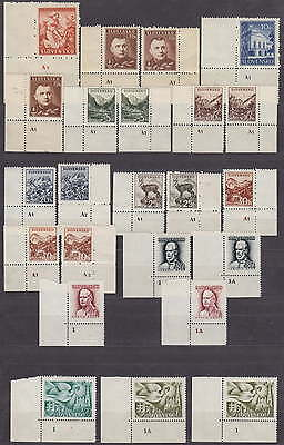 SLOVAKIA - NAZI OCCUPATION - LOVELY LOT STAMPS with PLATE MARKS - **MNH***