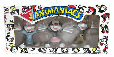 NIB Animaniacs Cartoon Gift Set 1994 Dakin Yakko, Wakko & Dot PVC Figures