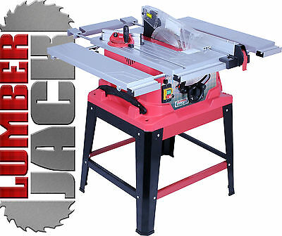 "Lumberjack Professional 10"" Table Saw with Sliding Extensions Laser & Blade 240V"