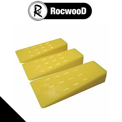 "3 x Chainsaw Plastic 5"" Felling Cutting Cleaving Wedges"