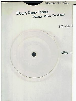 Donna Summer Down Deep Inside 45 White Label Proo 1977