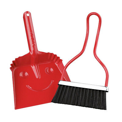 Zassenhaus Smiley - Dustpan & Brush Set - With Smiley Face Design - Red