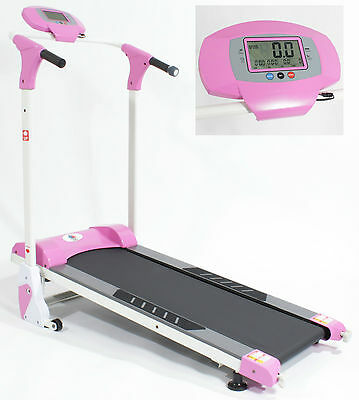 REBOXED Magnetic TREADMILL Folding Self-Powered Fitness Walking Machine in PINK