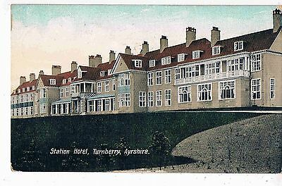 SCOTLAND - CPC - THE STATION HOTEL, TURNBERRY, AYRSHIRE, 1910s