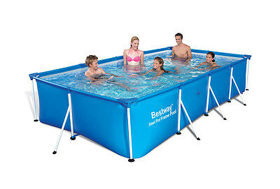"Bestway Deluxe Splash Frame Pool 118""x79""x26"" Above Ground"