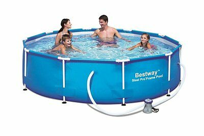 "Bestway 10'x30"" Steel Pro Frame Above Ground Swimming Pool Set with Filter Pump"
