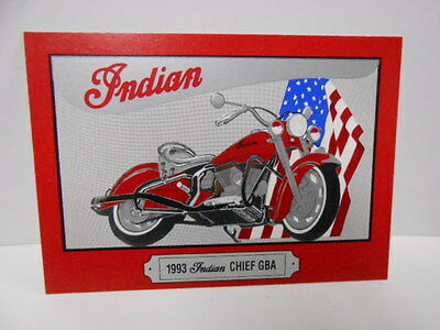 Indian Motorcycle rare Embossed raised series 2 numbered promo card 1990