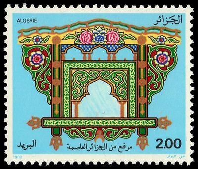 """ALGERIA 685 (Mi796) - Artifacts """"Painted Stand"""" (pa64384)"""