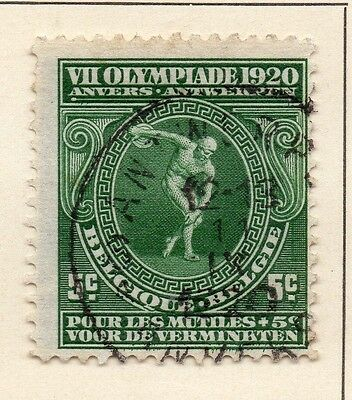 Belgium 1920 Early Issue Fine Used 5c. 124075