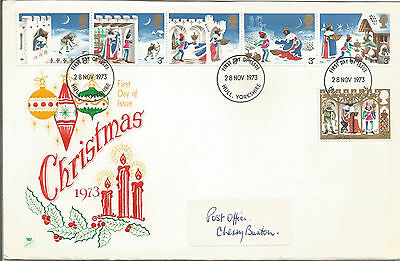 Gb Fdc 1973 Christmas-Large Envelope